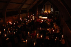 Singing Silent Night on Christmas Eve at Los Altos Lutheran Church (2012)