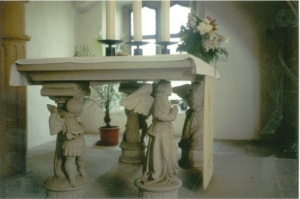 Altar at the castle Church in Torgau, the first church built after the Reformation
