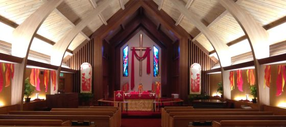 Sanctuary at Pentecost 2014.2