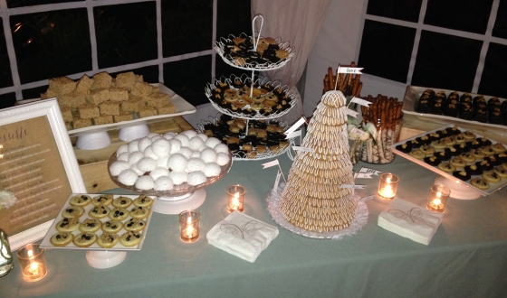 Dessert Table at Megan's Wedding